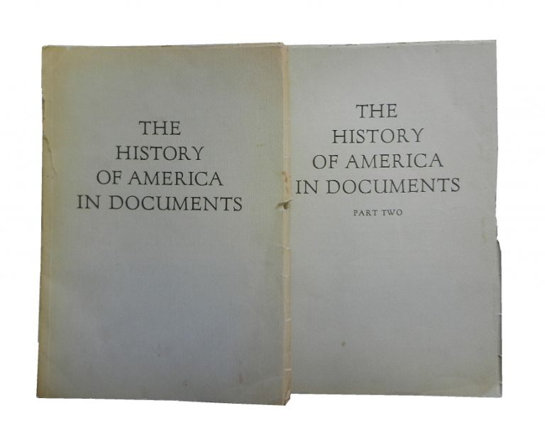 The History of America in Documents: Original Autograph Letters, Manuscripts and Source Materials, part I and part II only.