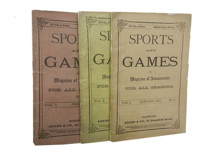Sports and Games (3 issues). sports.