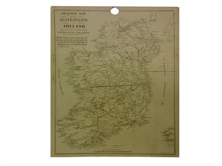 Station Map of the Railways in Ireland.