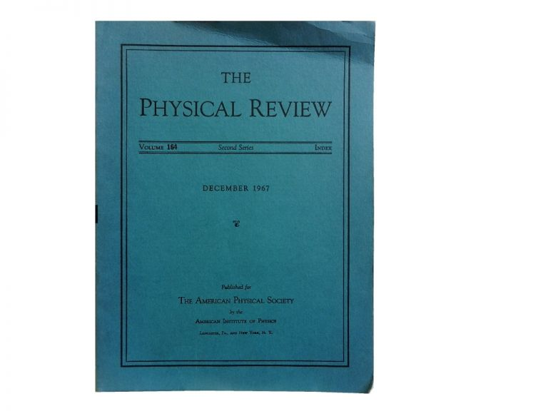 The Physical Review:; Second Series, Vol. 164, Index December 1967