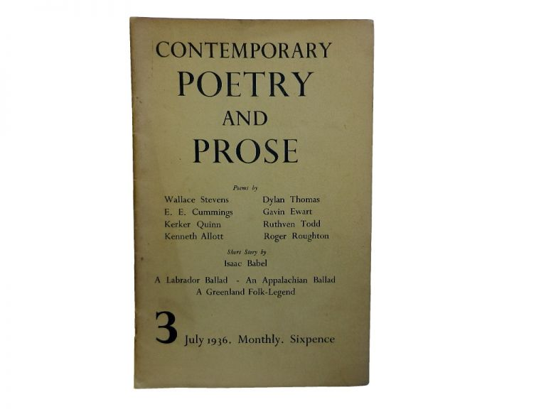Contemporary Poetry and Prose 3, July 1936.