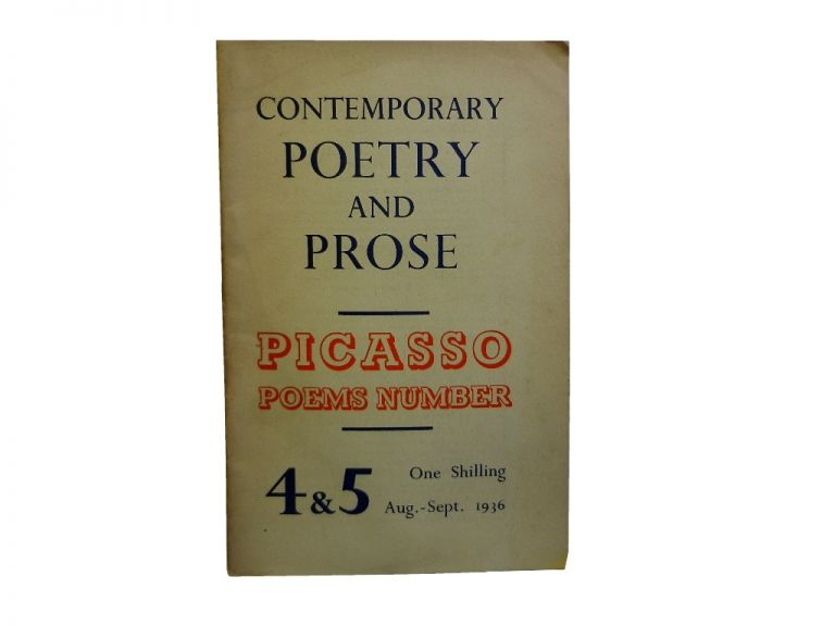 Contemporary Poetry and Prose 4 & 5, Aug. - Sept. 1936.