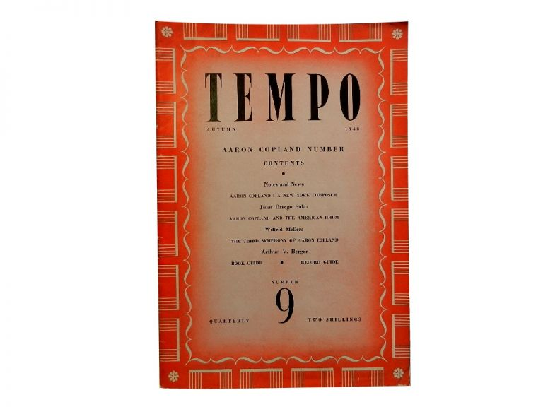 Tempo Number 9, Autumn 1948:; Aaron Copland Number