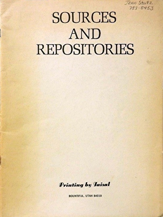 Sources and Repositories. Inc Gencor.