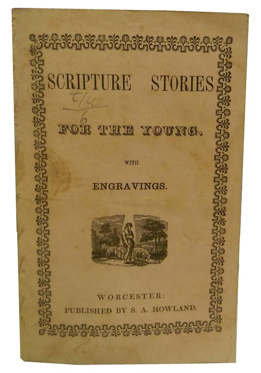 Scripture Stories for Young Persons with Colored Engravings. Children's.