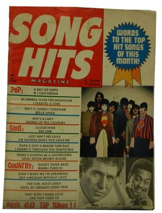 Song Hits Magazine Volume 33, Number 38, April, 1969. Charlton Publications, publisher