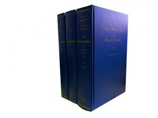 A Critical Bibliography of French Literature Volume VI (3vols):; The Twentieth Century in Three...