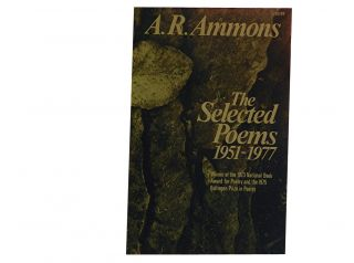 A. R. Ammons:; The Selected Poems 1951-1977. A. R. Ammons