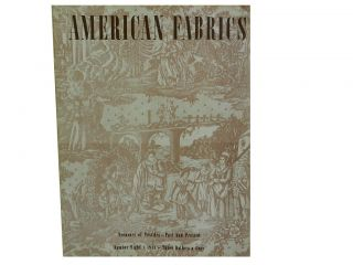 American Fabrics No. 8, 4th Quarter 1948:; Treasury of Textiles - Past and Present
