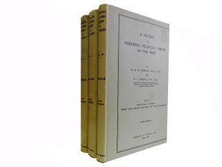 A History of Mediaeval Political Theory in the West (3 vols). Sir R. W. Carlyle, A. J
