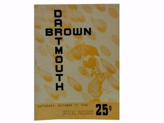Boston V. Dartmouth Official Program October 26, 1946
