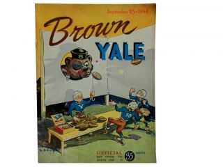 Brown Vs. Yale, September 25 1948