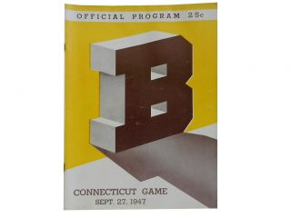 Brown / Connecticut Game Official Program Sept. 27, 1947