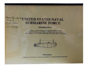 United States Naval Submarine Force Information Book - 1994 Edition. J. L. Christley