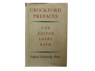 Crockford Prefaces:; The Editor Looks Back