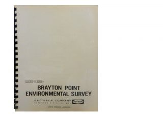 Technical Report on an Exploratory Environmental Survey at the Brayton Point Power Generating...