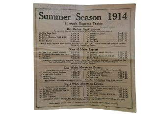 Summer Season 1914:; Through Express Trains