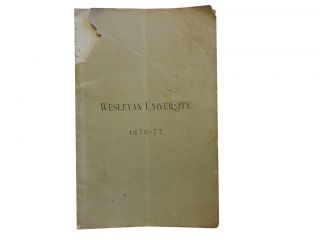 Catalogue of Wesleyan University 1876-77