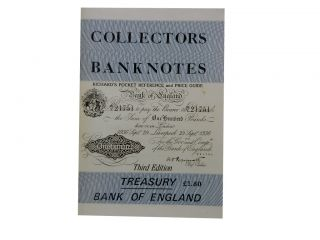 Richard's Pocket Reference and Price Guide: Collectors Banknotes:; Treasury and Bank of England