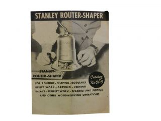 Stanley Router-Shaper Catalog No. 606