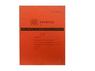 Journal of the Society of Architectural Historians, May 1952 - Vol. XI, No. 2. Walter L. Creese