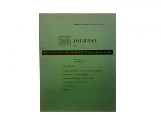Journal of the Society of Architectural Historians, December 1951 - Vol. X, No. 4. Walter L. Creese