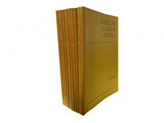 American Journal of Physics Vol. 40, 1972 (11 vols). American Association of Physics Teachers