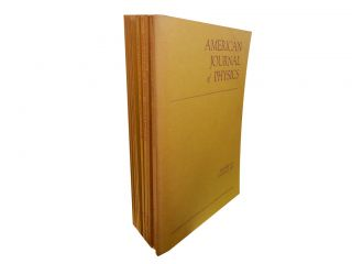 American Journal of Physics Vol. 41, 1973 (12 vols). American Association of Physics Teachers