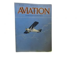 Aviation april 13, 1929:; The Oldest American Aeronautical Magazine