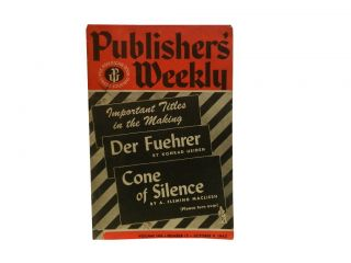 Publishers' Weekly Vol. 144, No. 15, Oct.9, 1943
