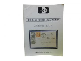 Cherrystone Auctions Postage Stamps of the World August 19 - 20, 1992