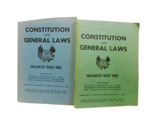 Amalgamated Transit Union Constitution and General Laws (2 vols