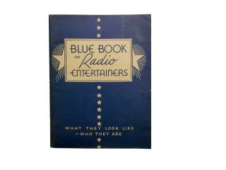 Blue Book of Radio Entertainers
