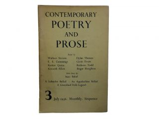 Contemporary Poetry and Prose 3, July 1936