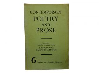 Contemporary Poetry and Prose 6, October 1936