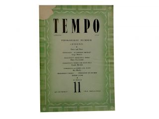 Tempo Number 11, Spring 1949:; Prokofieff Number