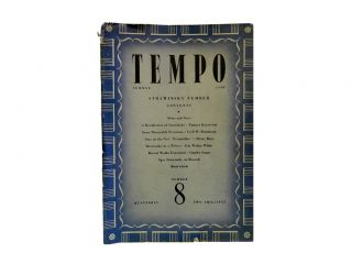 Tempo Number 8, Summer 1948:; Strawinsky Number