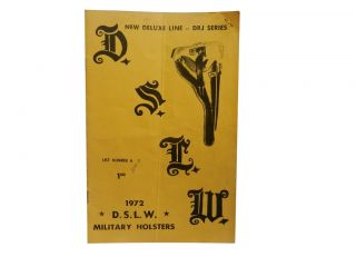 D.S.L.W. Military Holsters, List No. 6, 1972
