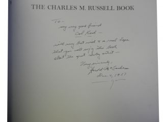 The Charles M. Russell Book:; The Life and Work of the Cowboy Artist