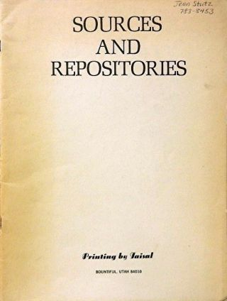 Sources and Repositories. Inc Gencor