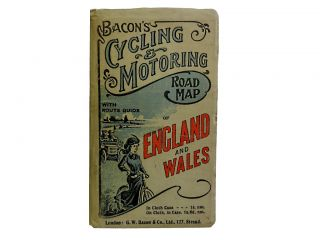 Bacon's Cyclist & Motorists' Road Map of England & Wales. Bacon